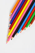 Lápis de cor, isolados no fundo branco — Foto Stock