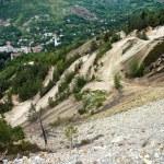 Controversial gold mine open pit excavation, Rosia Montana, Romania — Stok fotoğraf
