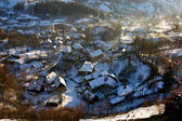 Rosia Montana village at wintertime. Romania — Stock Photo