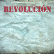 Vintage background, revolucion poster — Stock Photo