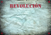 Vintage background, revolucion poster — Stockfoto