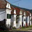 Whitewashed houses in Torocko, Rimetea village. Transylvania, Romania — Stock Photo