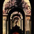 Ancient stone Hindu temple tunnel. Pashupatinath, Nepal — Stock Photo