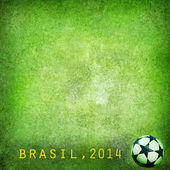 Grunge background - Brazil World Cup 2014. Space for text — Stock Photo