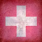 Grunge flag of Switzerland — Stock Photo