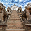 Elephants protecting a temple in Bhaktapur, Nepal  — Stock Photo