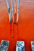 Water pollution of a copper mine exploitation — Stock Photo