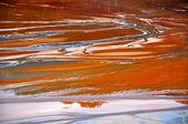 Cuivre mine contamination de l'eau à geamana, près de rosia montana, roumanie — Photo