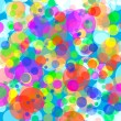 Stock Photo: Abstract background with colored bokeh circles