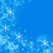 Blue background with snowflakes, space for text — Foto de Stock