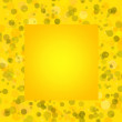 Stock Photo: Yellow bacground with circles, space for text