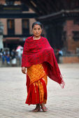 Nepalese woman in traditional clothes — Stock Photo