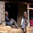 Gurung sherpas in the Himalayas, Nepal — Stock Photo