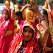 Nepalese people celebrating Dasain festival in Kathmandu, Ne — ストック写真 #37429973