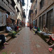 Stock Photo: Kathmandu suburb streets, Nepal