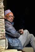 Gurung sherpas himalayalar, nepal — Stok fotoğraf