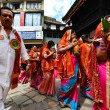 Stock fotografie: Nepalese people celebrating Dasain festival in Kathmandu, Ne