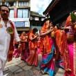 Photo: Nepalese people celebrating Dasain festival in Kathmandu, Ne