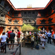 The inner courtyard of the living Goddess Kumari in Kathmandu, N — Stock Photo