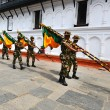 Photo: Nepalese soldiers marching in Kathmandu