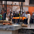 Stockfoto: Humcremation ceremony in Pashupatinath, Nepal