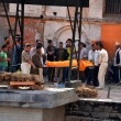 Foto de Stock  : Humcremation ceremony in Pashupatinath, Nepal