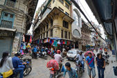 The crowded streets of Kathmandu, Nepal — Stock Photo