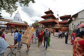 The crowded streets of Kathmandu, Nepal — Stockfoto