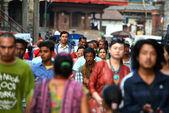The crowded streets of Kathmandu, Nepal — Stock Photo