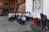 Nepalese soldiers in Kathmandu — Stock Photo