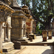 Stock Photo: Rows of sacred Hindu temples in Pashupatinath, Nepal