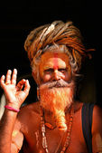 Sadhu man at Pashupatinath, Nepal — Stock Photo