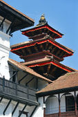 Traditional Nepali architecture in Kathmandu — Stock Photo