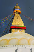 Boudhanath Buddhist stupa. Kathmandu, Nepal — Stock Photo