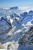 Snowy mountain landscape in the Dolomites, Italy — Stock Photo