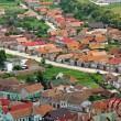 Transylvanian traditional village. A view from Rasnov castle — Stock Photo #39228683