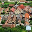 Transylvanian traditional village. A view from Rasnov castle — Stock Photo