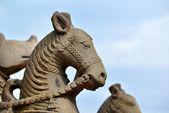 Buddhist stone statues in Bhaktapur, Nepal — Stock Photo