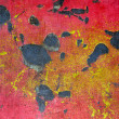 Zdjęcie stockowe: Red and yellow rusty, scratched metal background