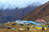 Campo base annapurna in nepal, nepal — Foto Stock