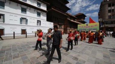 Nepali people celebrating the Dasain festival — Stock Video