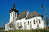 Protestant church in Sintereag (Somkerek). Transylvania, Romania — Stock Photo