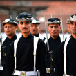 Nepali Royal Army in Kathmandu — Stock Photo