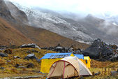 Storm in the Annapurna Base Camp, Nepal — Stock Photo