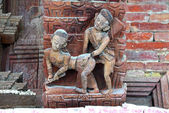 Erotic carving, Kama Sutra position — Stock Photo