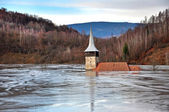 Flooded church — Stockfoto