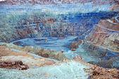 Otevřené zlatý důl v rosia montana, Rumunsko — Stock fotografie