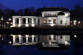 Casino reflection in lake water — Stok fotoğraf