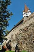 Saxon fortified church. Cristian, Transylvania — Foto Stock