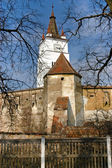 Saxon fortified church in Honigberg, Harman in Transylvania, Rom — Stock Photo